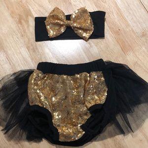 🌿 tutu &matching bow